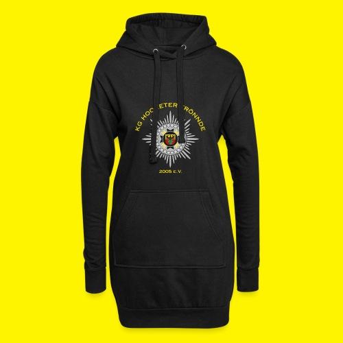 Gelbe Schrift - Hoodie-Kleid