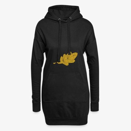 Eiche Blatt geometrisch - Hoodie-Kleid