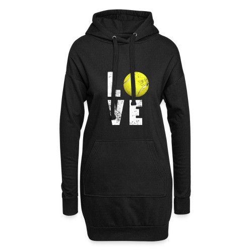 LoveTennis Shirt Ideal Gift For Tennis Players - Sudadera vestido con capucha