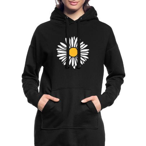 Gänseblümchen zweifarbig - Hoodie-Kleid