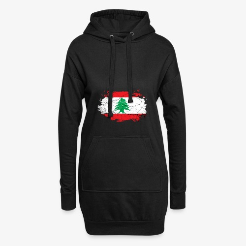 Libanon Libanesische Flagge - Hoodie-Kleid