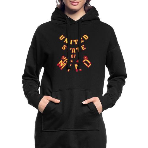United State of Mind - Hoodie-kjole