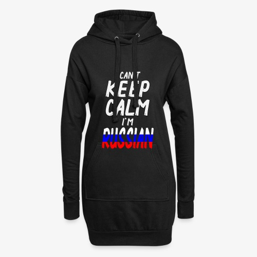 Can't Keep Calm I´m Russian - Hoodie-Kleid