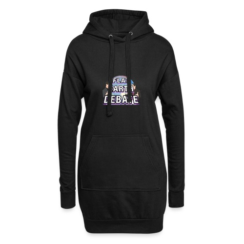 Flat Earth Debate Solid - Hoodie Dress