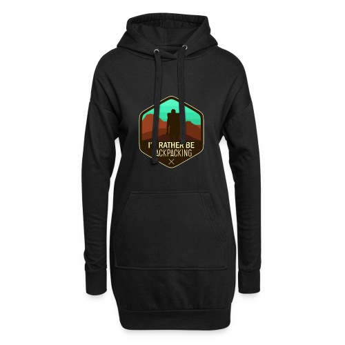 I'd Rather Be Backpacking - Hoodie-Kleid