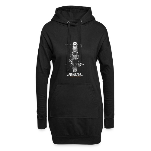 riding is a state of mind - Chopper Cruiser Retro - Hoodie-Kleid