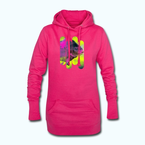 Neon colors fish - Hoodie Dress