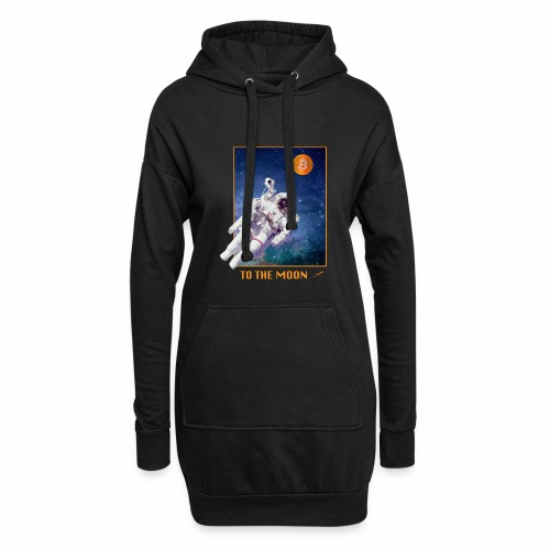 Bitcoin - To The Moon - Hoodie-Kleid