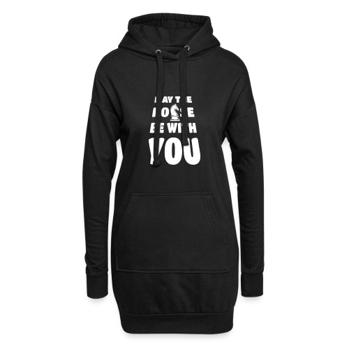 may the horse be with you - Schach - weiß - Hoodie-Kleid