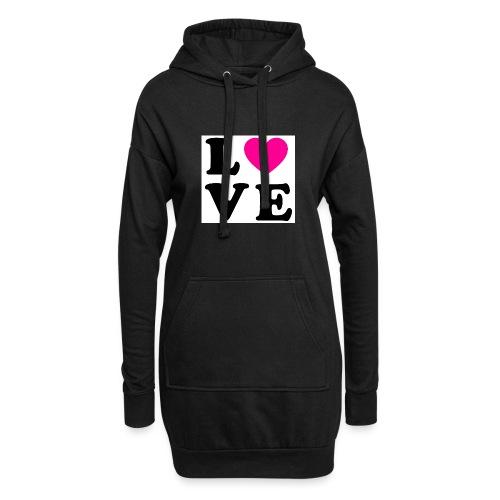 Love t-shirt - Sweat-shirt à capuche long Femme