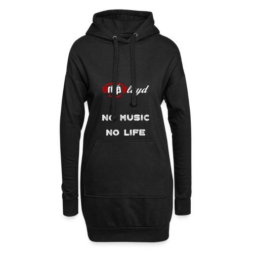 dropblayd Merch - No Music No Life - Hoodie-Kleid