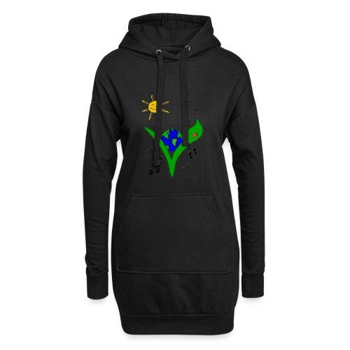 Ein Logo geht um die Welt - Hoodie-Kleid