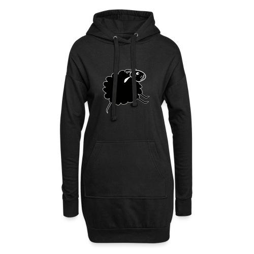 Schwarzes Schaf - Hoodie-Kleid