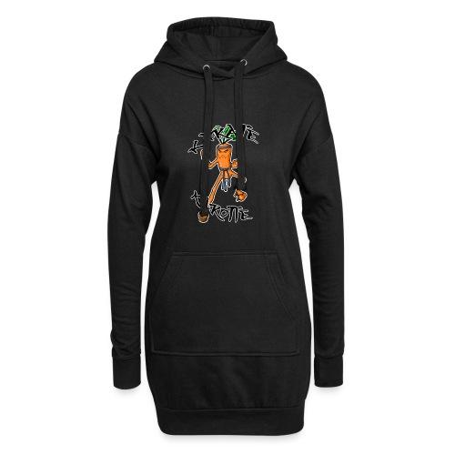 KarateKarotteTexte - Sweat-shirt à capuche long Femme