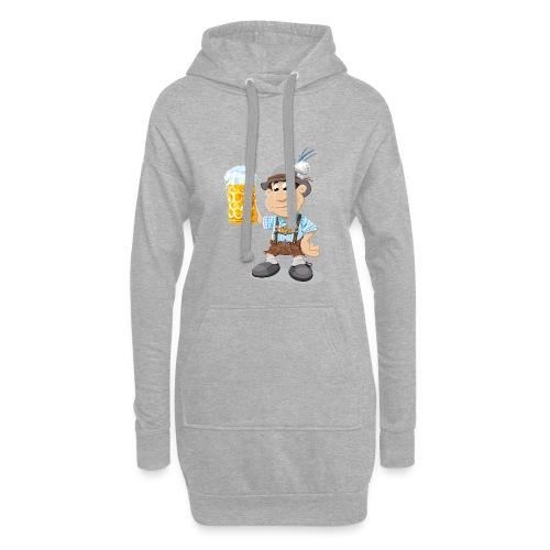 Bier Maßkrug Lederhosen Cartoon Man - Hoodie-Kleid