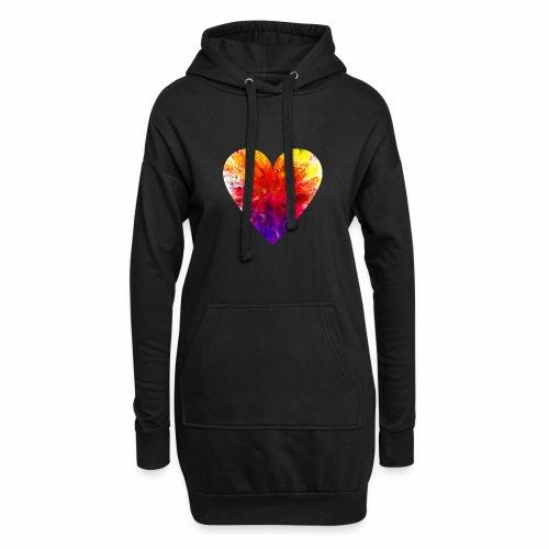 Herz Kristall - Hoodie-Kleid