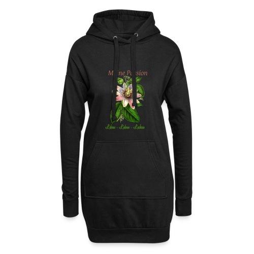 Meine Passion Leben Lieben Lachen - Hoodie-Kleid