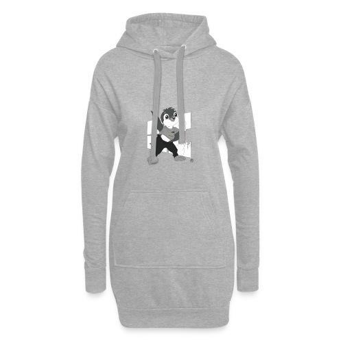 Le pingouin de Nice - Sweat-shirt à capuche long Femme