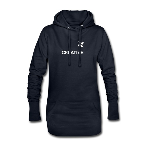 Creative long urban shirt - Hoodie-kjole