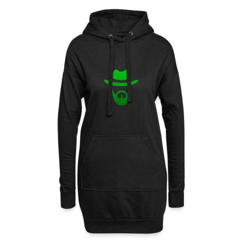 izicron logo vert - Sweat-shirt à capuche long Femme