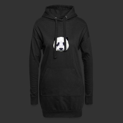 Panda Low Poly - Sweat-shirt à capuche long Femme