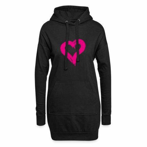 Pink Heart - Hoodie Dress
