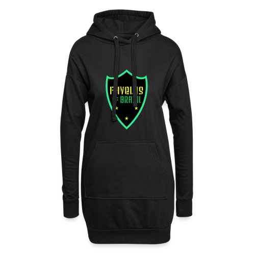 FAVELAS OF BRAZIL NOIR VERT DESIGN - Sweat-shirt à capuche long Femme