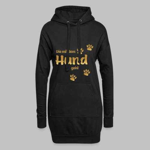 DIE MIT DEM HUND GEHT GOLD EDITION - Hoodie-Kleid