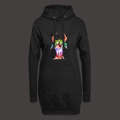 Taureau multi-color - Sweat-shirt à capuche long Femme