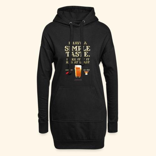 Whisky, Chili, Bier - Hoodie-Kleid
