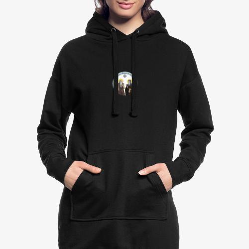 logo de l'eglise - Sweat-shirt à capuche long Femme