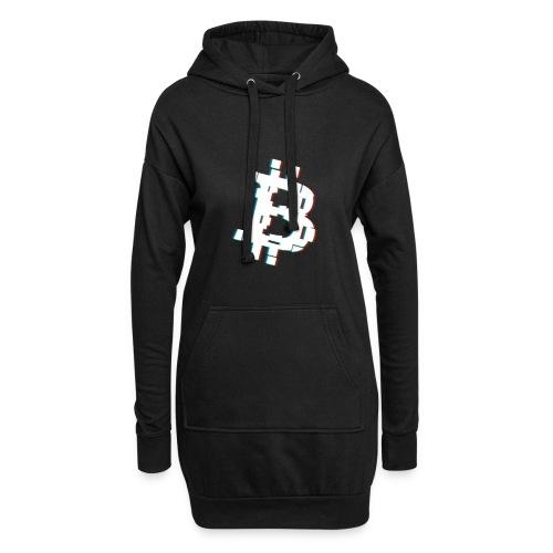 Glitched Bitcoin - Hoodie Dress