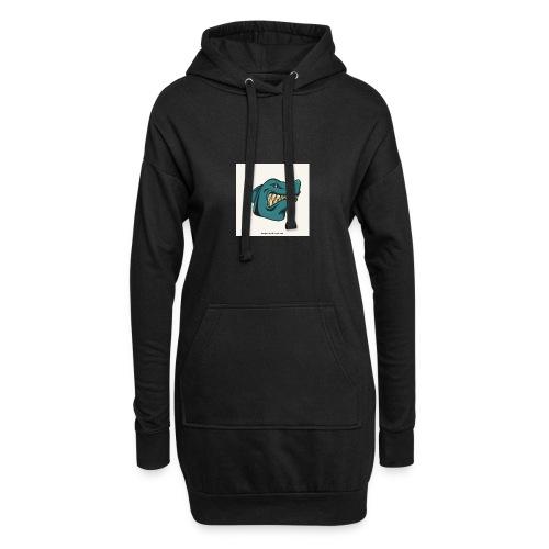 requin mascotte weelax - Sweat-shirt à capuche long Femme