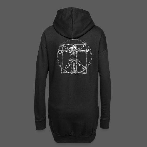 Vitruvian Gamer White Print - Hoodie-Kleid