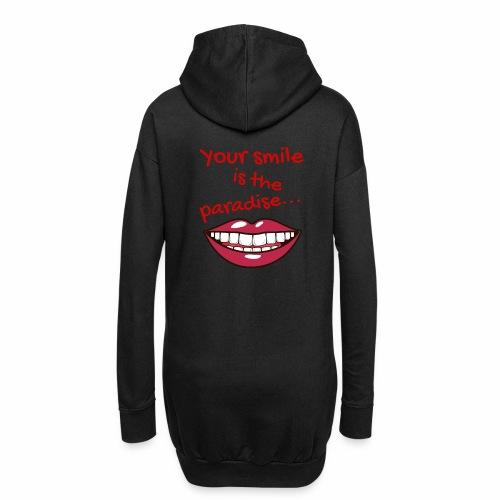 Smile lustige Sprüche shirt design - Hoodie-Kleid