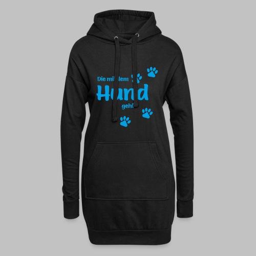 DIE MIT DEM HUND GEHT - BLUE EDITION - Hoodie-Kleid