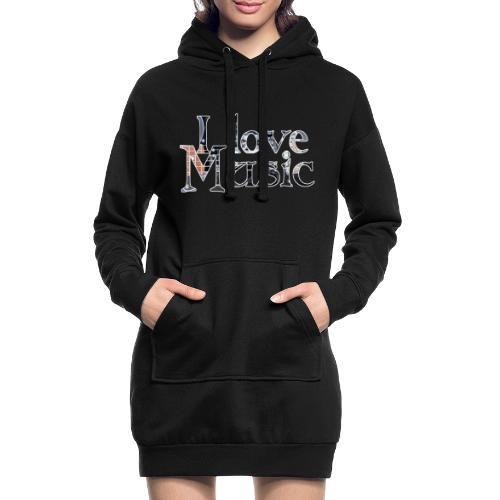 I love Music - Hoodie-Kleid