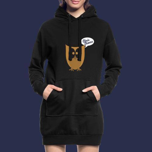 Eule mit weiß/blauen Logo - Hoodie-Kleid