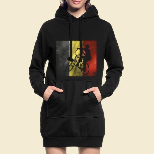 Radball   Flagge Belgien - Hoodie-Kleid
