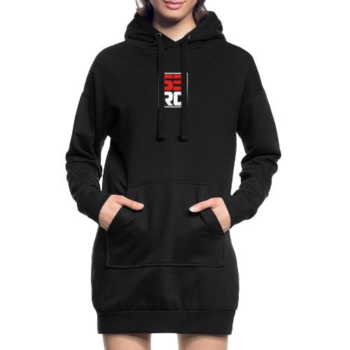 53RD Logo kompakt umrandet (weiss-rot) - Hoodie-Kleid