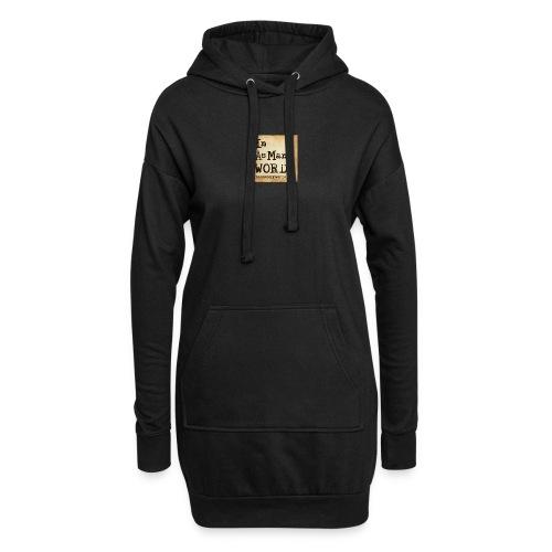 I AM Words LOGO_Brown - Hoodie Dress