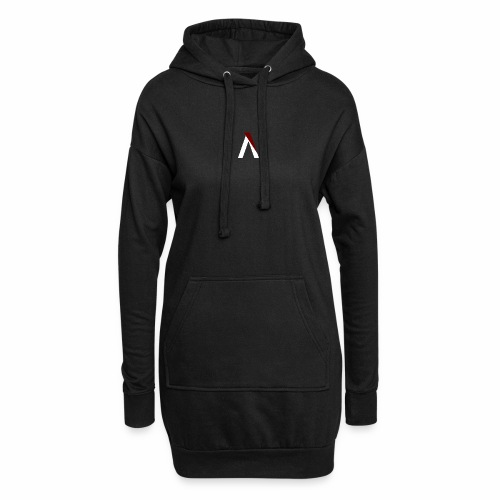 logo aog white and red - Sweat-shirt à capuche long Femme