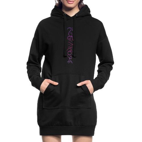 Weg des Herzens - Cosmic Energy - Hoodie-Kleid