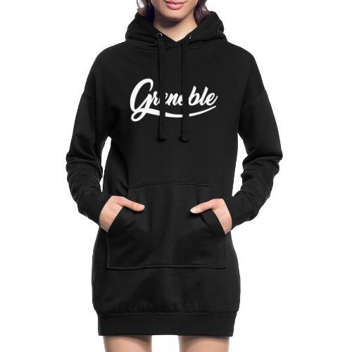 grenoble, old school - Sweat-shirt à capuche long Femme