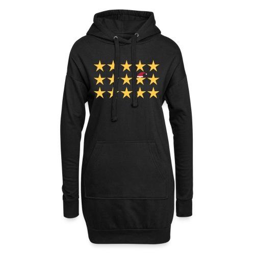 be different Sterne Weihnachten - Hoodie-Kleid