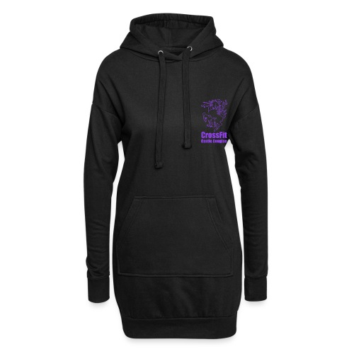 Unicorn Emblem - Purple - Hoodie Dress