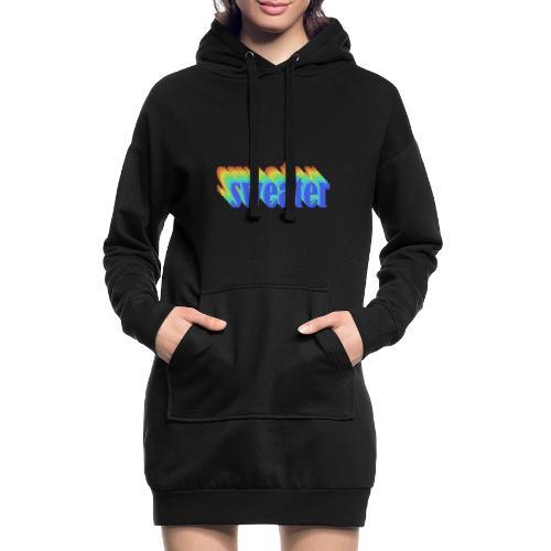 Retro simple sweater - Sweat-shirt à capuche long Femme