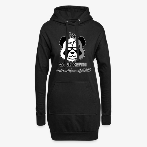 panda black - Hoodie Dress