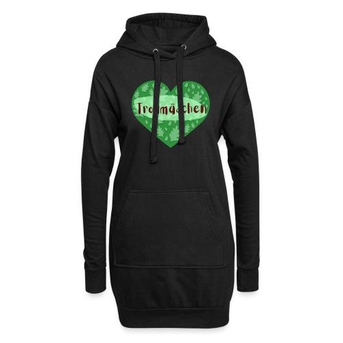 Trollmädchen grün - Hoodie-Kleid