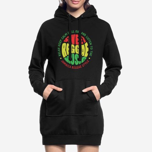 relax chill reggae music jamaica - Hoodie-Kleid